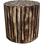 Mywoodkart Wooden Log Stool Round