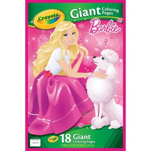Crayola Barbie 18 Giant Coloring Pages by Crayola