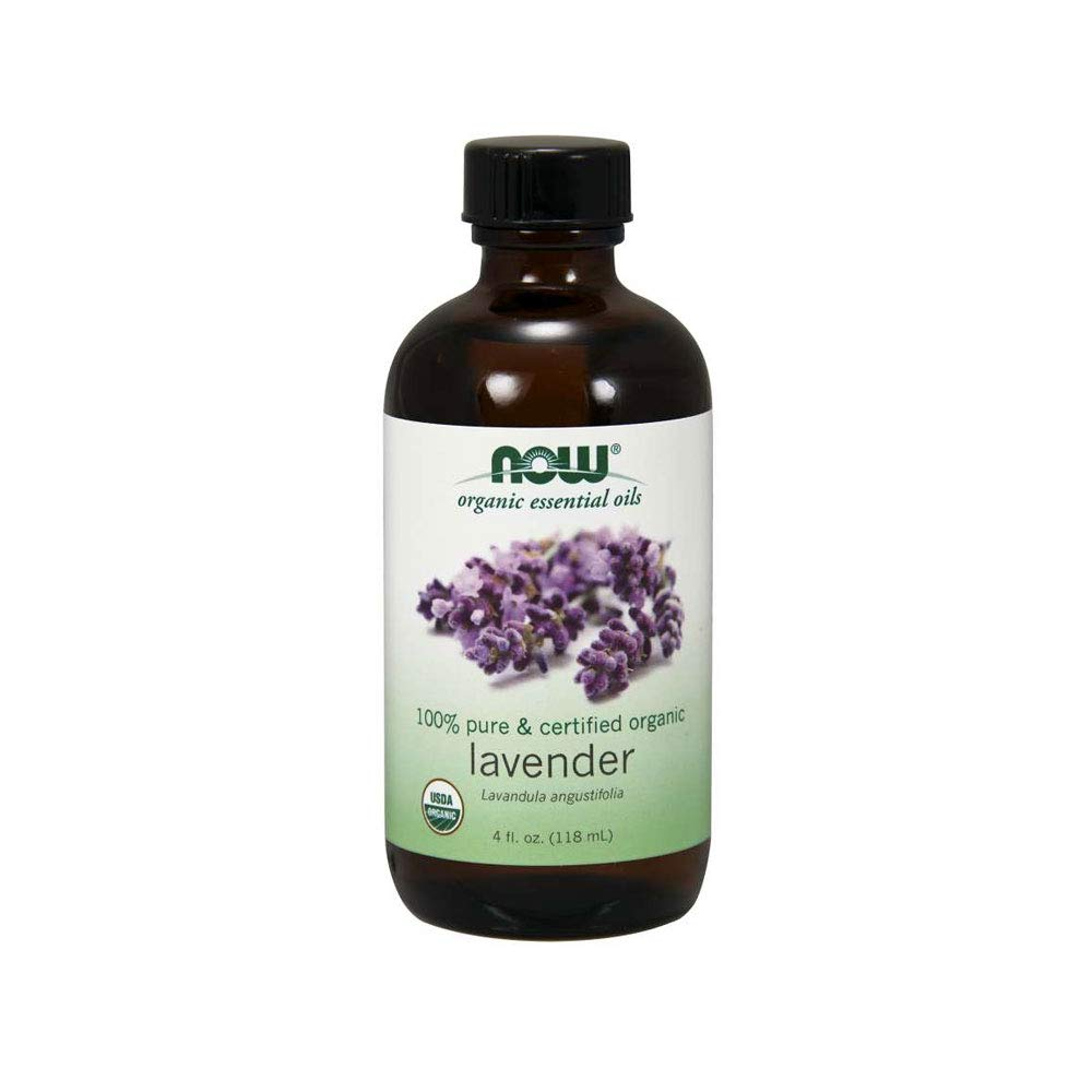 Now Essential Oils, Organic Lavender Oil, Soothing Aromatherapy Scent, Steam Distilled, 100% Pure, Vegan, 4-Ounce