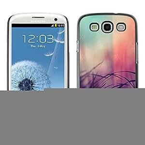 Caucho caso de Shell duro de la cubierta de accesorios de protección BY RAYDREAMMM - Samsung Galaxy S3 I9300 - Pink Fading Blurry Fur