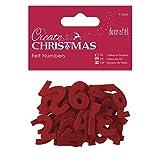 docrafts Create Christmas Advent Calendar Felt Numbers (41 Pieces)