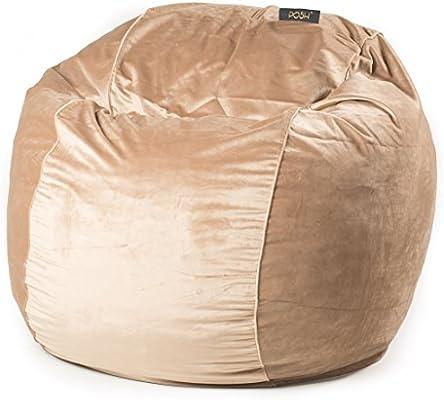 Fabulous Posh Mink Velvet Small Bean Bag Chair Buy Online At Ncnpc Chair Design For Home Ncnpcorg