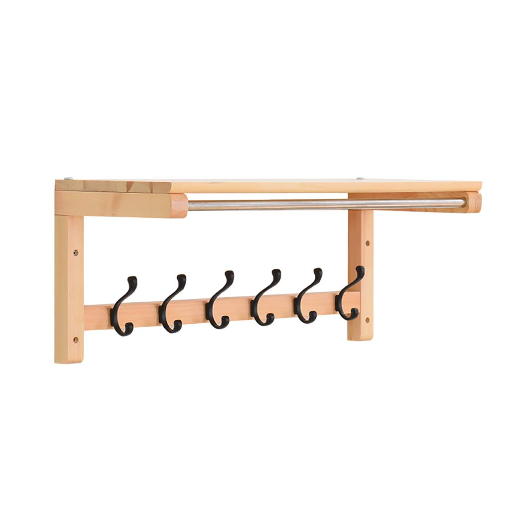 65.529.527.3cm Coat Rack Coat Rack Wall Hanging Wall Hanger Porch Entry Clothes Hook Living Room Solid Wood Multi-Purpose Rack (Size   75  29.5  27.3cm)