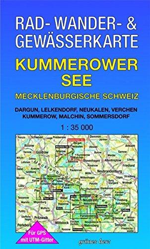 Rad-, Wander- und Gewässerkarte Kummerower See - Mecklenburgische Schweiz: Mit Dargun, Lelkendorf, Neukalen, Mit Verchen, Kummerow, Malchin, ... Gewässerkarten Mecklenburgische Seenplatte)
