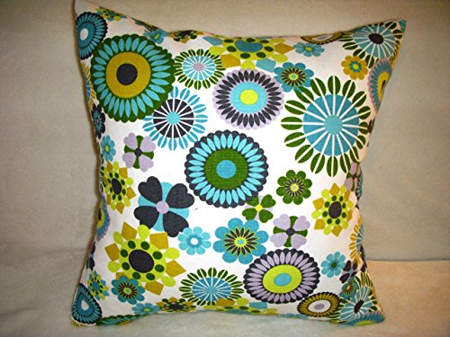 retro-inspired-floral-design-pillow-cover-16-inches-square-100-cotton-zipper-closure-same-fabric-on-
