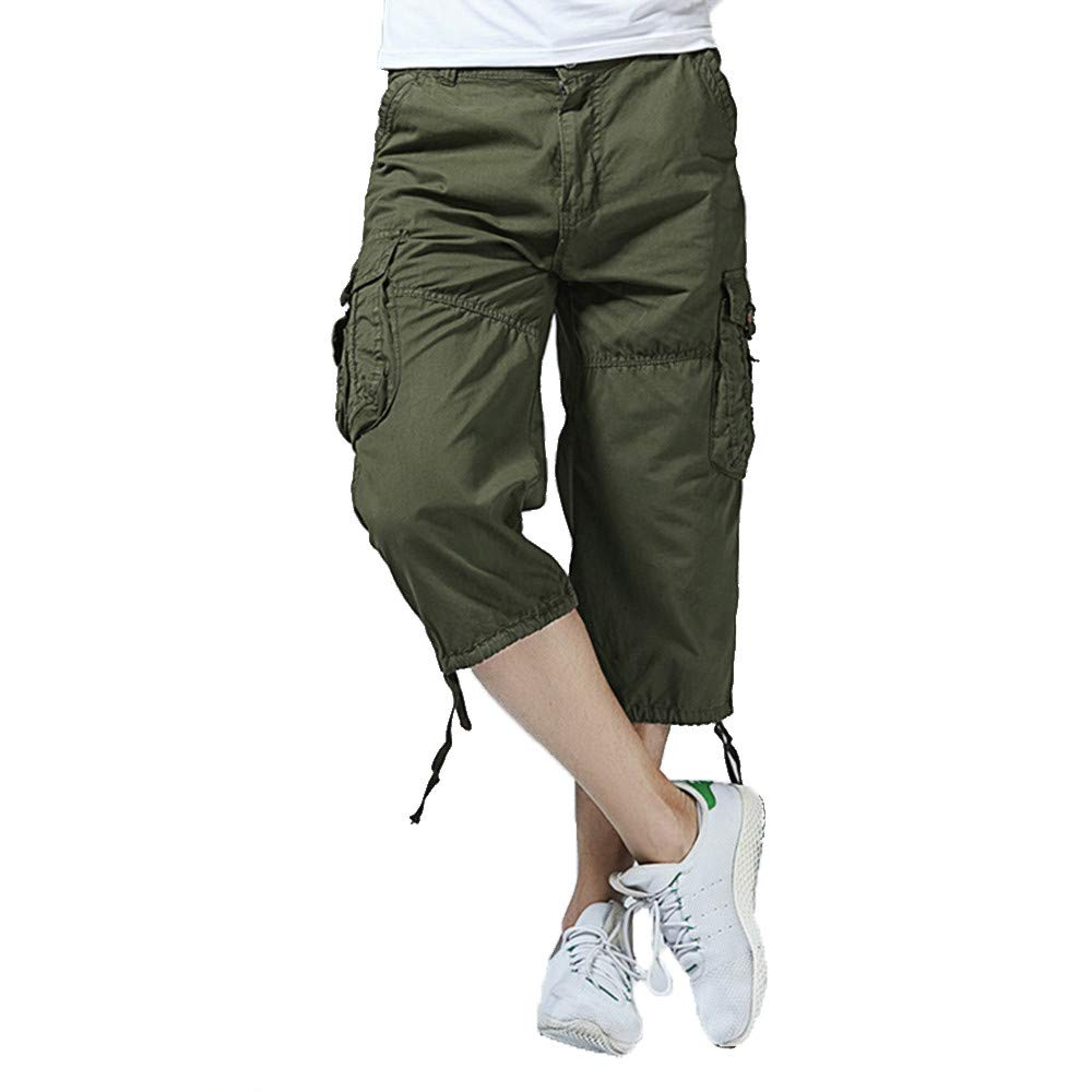 40b43fa3cb Men's Casual Bermuda Pants Slim-Fit Stretch Sweatpants Work Trouser Cargo  Shorts   Amazon.com