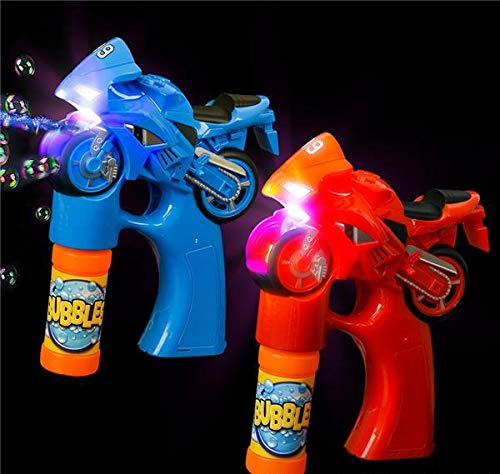 DollarItemDirect 5'' Light and Sound Motorcycle Bubble Blaster, Case of 24