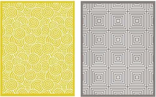 QUICKUTZ Lifestyle Crafts Twirl Embossing Folder, 2-Pack by QUICKUTZ