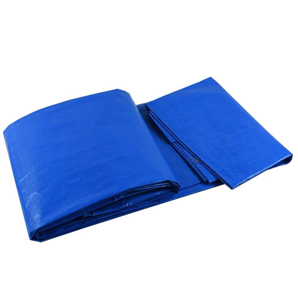 Waterproof Cloth Home Wasserdichte Plane Shade Sonnencreme Outdoor Kunststoff Regenplane, Blau Weiß (Größe   4  6cm)