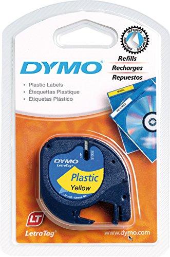 Dymo LetraTag Etikettiergeräte (1,27 cm x 33 cm) schwarz auf gelb