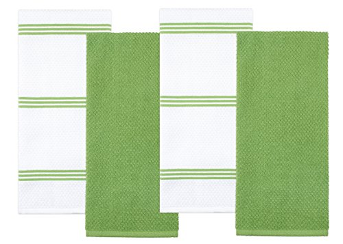 - Sticky Toffee Cotton Terry Kitchen Dish Towel, Green, 4 Pack, 28 in x 16 in