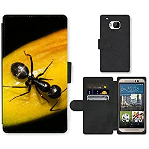 Hot Style Cell Phone Card Slot PU Leather Wallet Case // M99999038 Ant // HTC One M9