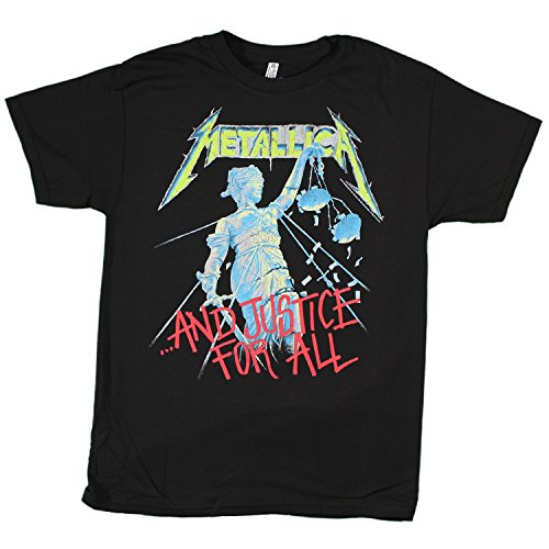 Metallica Men's And Justice For All T-shirt, Black, Large
