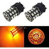 JDM ASTAR AX-2835 Chipsets 3056 3156 3157 4157 LED Bulbs for Turn Signal,Amber Yellow