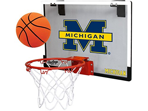Michigan Wolverines Game On Basketball Hoop Set