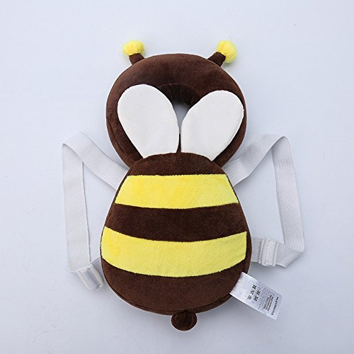 Hewnda Baby Toddlers Head Protective , Adjustable Infant Safety Pads For Baby Walkers Protective Head Cute Small bee from Hewnda