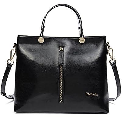 BOSTANTEN Leather Handbags Designer Tote Shoulder Satchel for Women