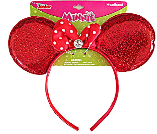 Disney Minnie Mouse Sparkling Ear shaped Headband (Ears Dopey)