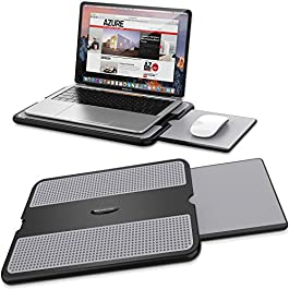 AboveTEK Portable Laptop Lap Desk w/ Retractable Left/Right Mouse Pad Tray, Non-Slip Heat Shield Tablet Notebook…
