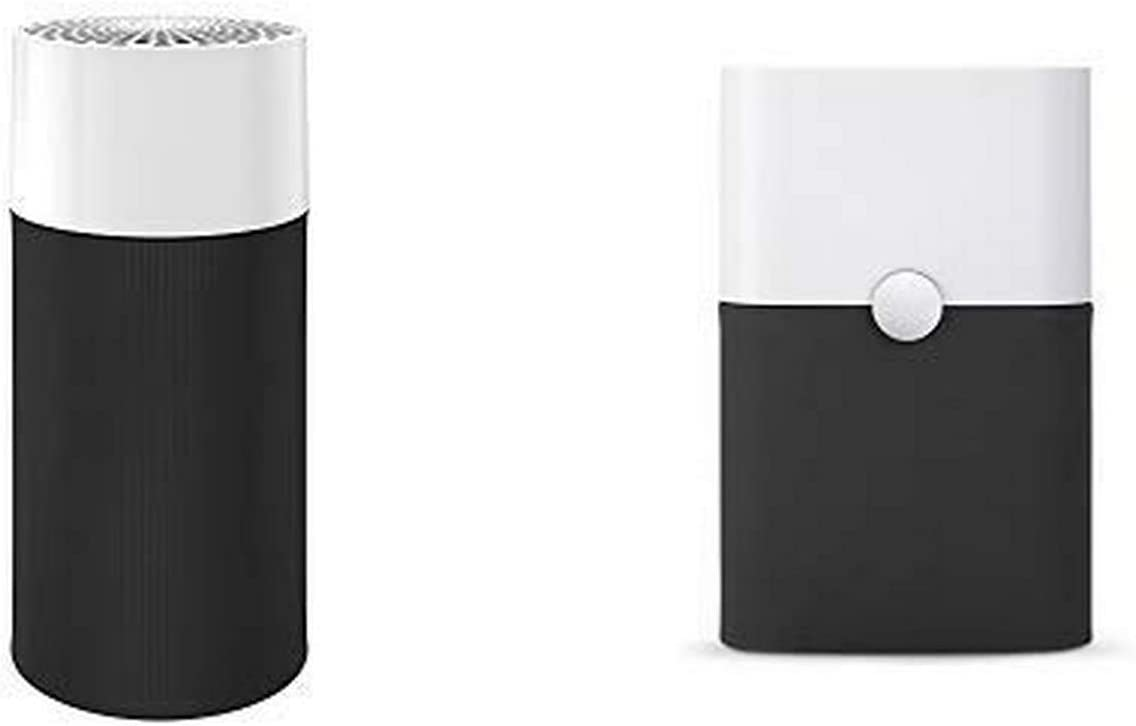 Blue Pure 411 (Small Rooms) and Blue Pure 211+ (Large Rooms) Air Purifiers with Particle and Carbon Filter for Allergen and Odor Reduction, Washable Pre-Filter, by Blueair