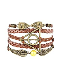 Accessorisingg Harry Potter Multi-Strand Artificial Leather Bracelet forGirls[BR061]