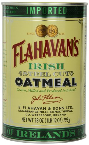 Flahavan's Irish Steel Cut Oatmeal Tin, 28-ounces (Pack of 2)