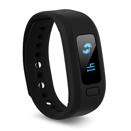 Excelvan Moving Up2 - Ajustable Impermeable Smartwatch Pulsera de Actividad para Android IOS (Pantalla OLED, Bluetooth 4.0, Caloría, Podómetro, ...
