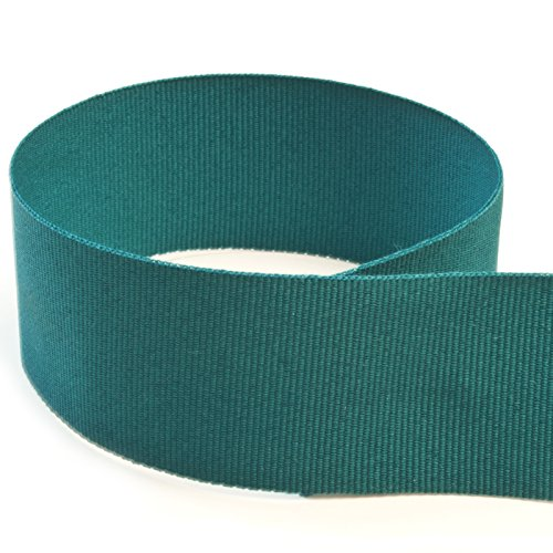 USA Made 1-3/8'' Teal Solid Grosgrain Ribbon - 20 Yards - (Multiple Widths & Yardages Available) by The Ribbon Factory
