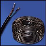 H03VV-F Cable électrique 2 x 0,75 mm² 10 m Noir 2G0 75