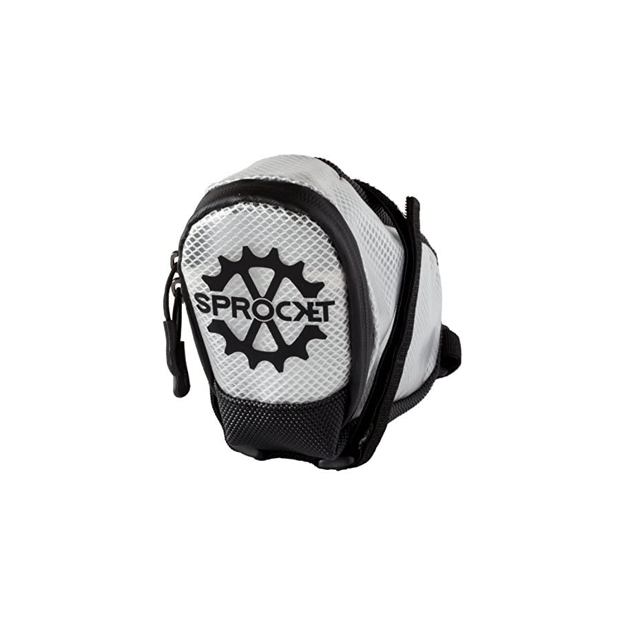Sprocket Rally Saddle Bag Lightweight Durable Water Resistant Bike Bag with Sealed Zipper Easy to Clean Bicycle Seat Pack Transparent Design Road Bike Mountain Bike Enduro Racing