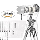"Movo (10 Pack) RC1 Clear Rain Cover for DSLR Camera and Lens up to 18"" Long"