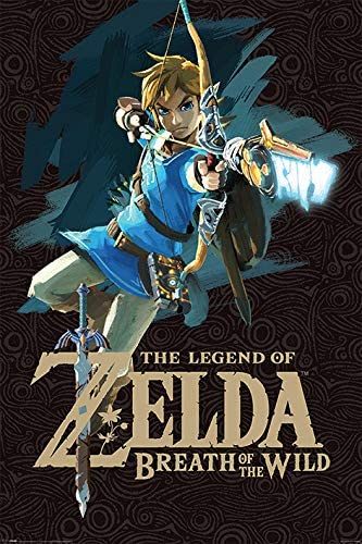 Grupo Erik Editores Poster Zelda Breath Of The Wild Game Cover ...