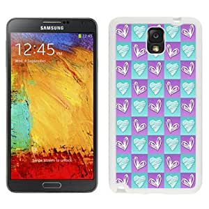 NEW Custom Designed For Iphone 6Plus 5.5Inch Case Cover Phone With Heart Doodles In Squares_White Phone