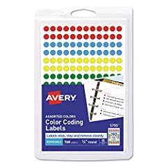 Your organization system is spot-on with these removable color coding labels. The small size makes them ideal for adding emphasis to documents, controlling inventory, marking prices and more. Keep track of related objects, mark important date...