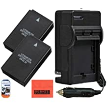 Pack of 2 EN-EL20 Batteries And Battery Charger for Nikon Coolpix A, 1 J1, 1 J2, 1 J3, 1 S1 Digital Camera + More