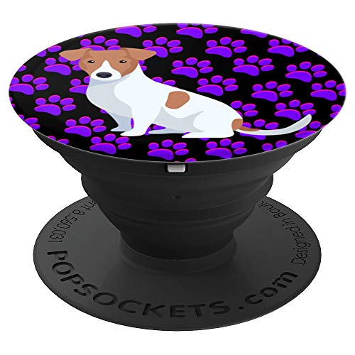 Jack Russell Terrier Dog Paw Prints Pop Socket Phone Holder - PopSockets Grip and Stand for Phones and Tablets ()