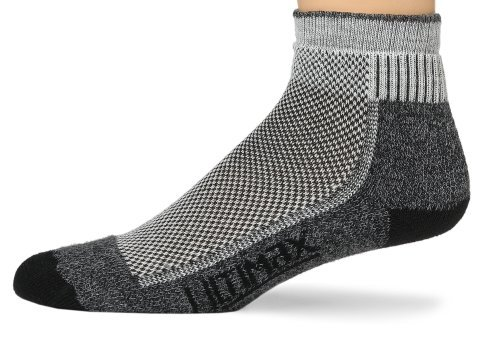 Wigwam Men's Cool-Lite Mid Hiker Pro Quarter Length Sock (Medium (3 PAIRS), Black)