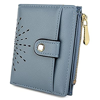UTO Women's PU Leather RFID Blocking Wallet Card Holder Organizer Girls Cute Purse with Zipper Coin Pocket