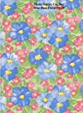 "Blue Rose Floral Series F0220 Vinyl Tablecloth 54"" x 45' Roll"