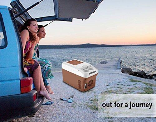 Refrigerador Del Coche 15L Portátil Mini Refrigerador Congelador El Coche Y El Hogar Están Disponibles 12v / 24v / 220V Frío Caliente Portátil Eléctrico ...