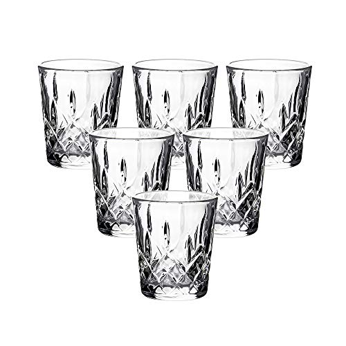 Enindel Carved Patterns Shot Glass, 1.7 OZ, Set of 6, JY001