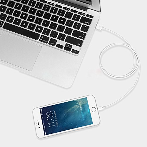 For iPhone Charger Cable BUDGET & GOOD 8 Pin Lightning to USB Cable 3 Pack 6ft Certified iPhone Charging Cord for iPhone X 8 8 Plus 7 7 Plus 6s 6s Plus 6 6 Plus SE 5s 5c 5 iPad iPod White by BUDGET & GOOD (Image #4)