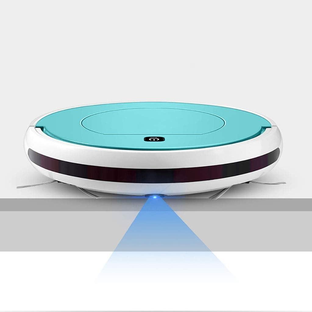 Aspirateur silencieux ultra-mince I0OOPA Robot balayeur à succion longue attente Cleanerr 24x4.5cm (Color : Purple) Black