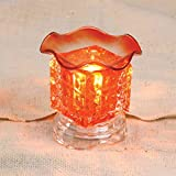 Electric Glass Oil Burner: Orange
