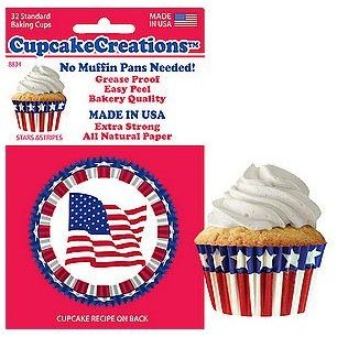 CupcakeCreations Cupcake Liners 32 Ct. Standard - Stars & Stripes