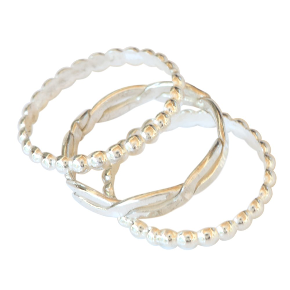 Sterling Silver Trio Toe Ring (4) by California Toe Rings