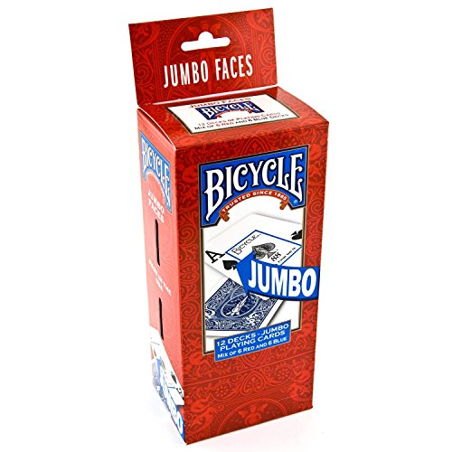 Store - 383 Bicycle Jumbo Faces Playing Cards - 12 pks. (Pack of 4) A1