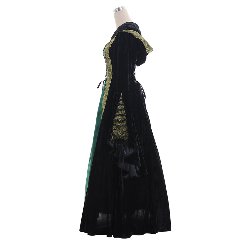 CosplayDiy Women's Medieval Renaissance Retro Gown Cosplay Costume Dress CM Green by CosplayDiy (Image #3)