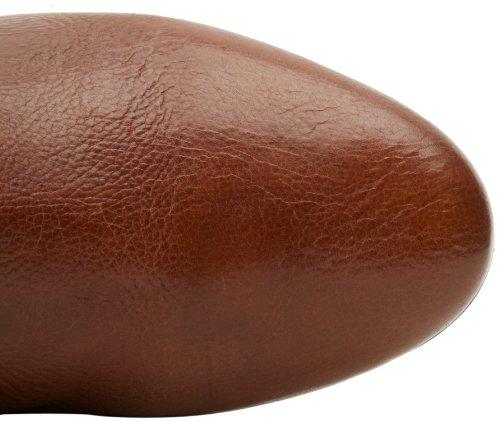 MyBrand Intyce - Botas de cuero para mujer negro negro rojo - marrón