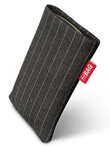 Twist Gray fitBAG-Funda con pestaña para Nokia 1662. Tejido de calidad con forro de microfibra para limpieza de pantalla